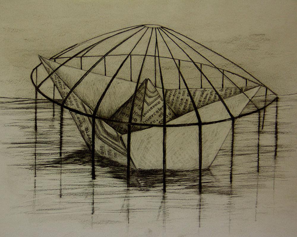 Obra, Navegando a la sombra del Artista Roberto Jiménez Hidalgo