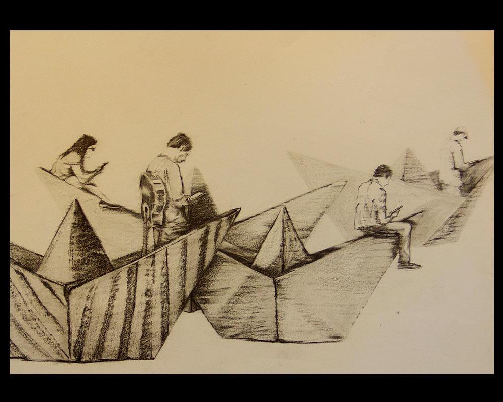 Obra, Navegantes en Red del Artista Roberto Jiménez Hidalgo