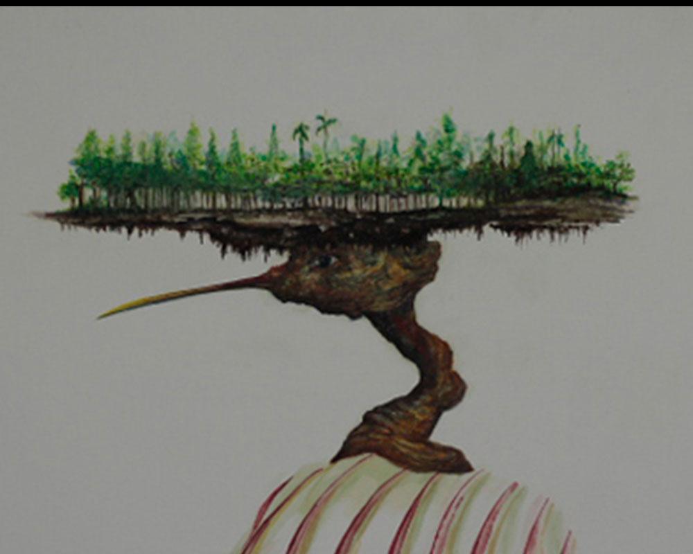 Obra, Isla con Alas 6 del Artista Roberto Jiménez Hidalgo