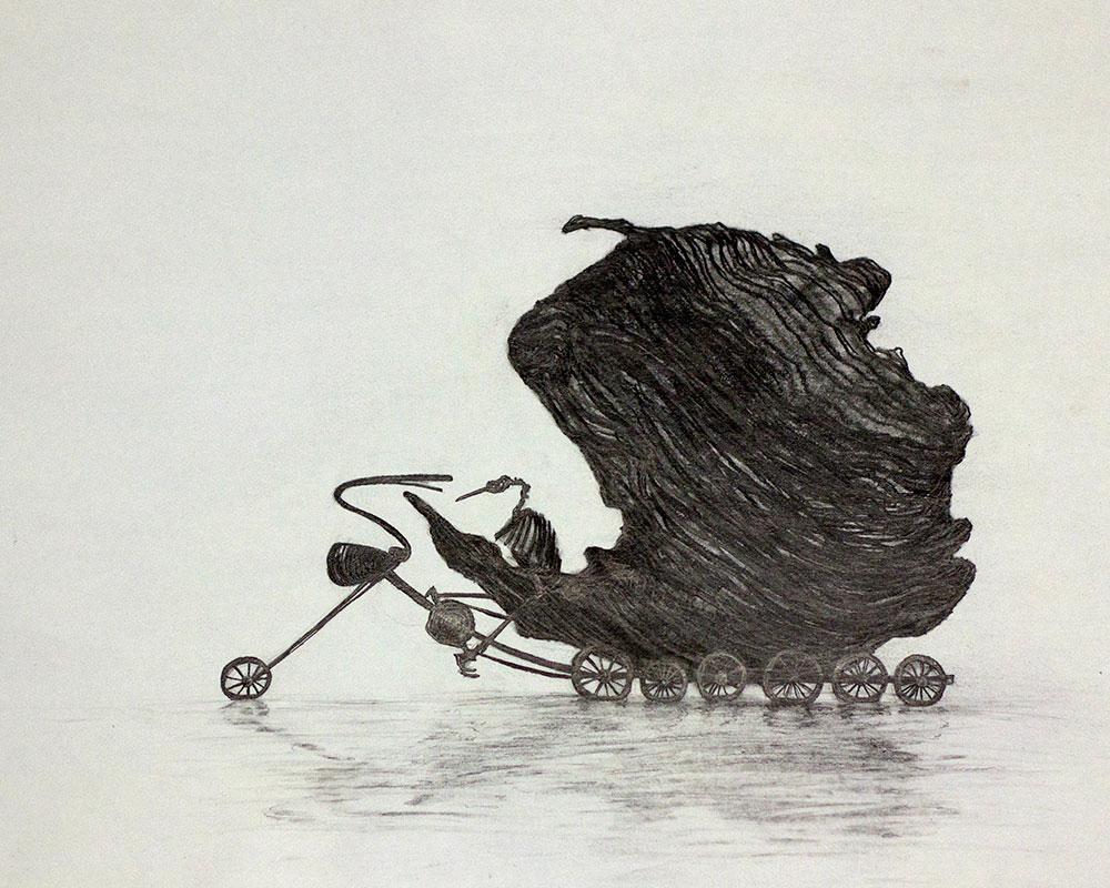 Boceto, Isla con Alas 4 del Artista Roberto Jiménez Hidalgo