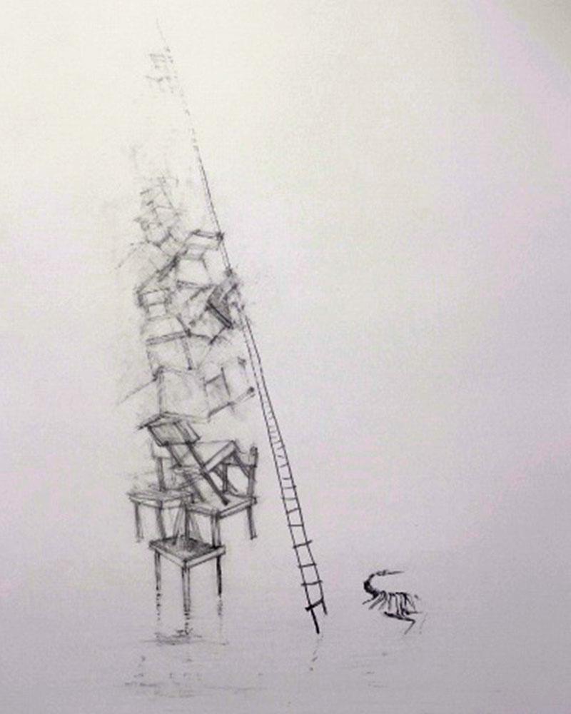 Obra, Candidato en equilibrio del Artista Roberto Jiménez Hidalgo