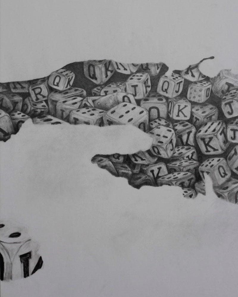 Obra Cuba Cubilete del Artista Roberto Jiménez Hidalgo