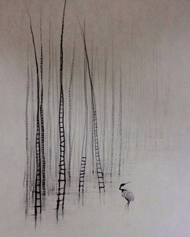 Obra Sobre Población del Artista Roberto Jiménez Hidalgo