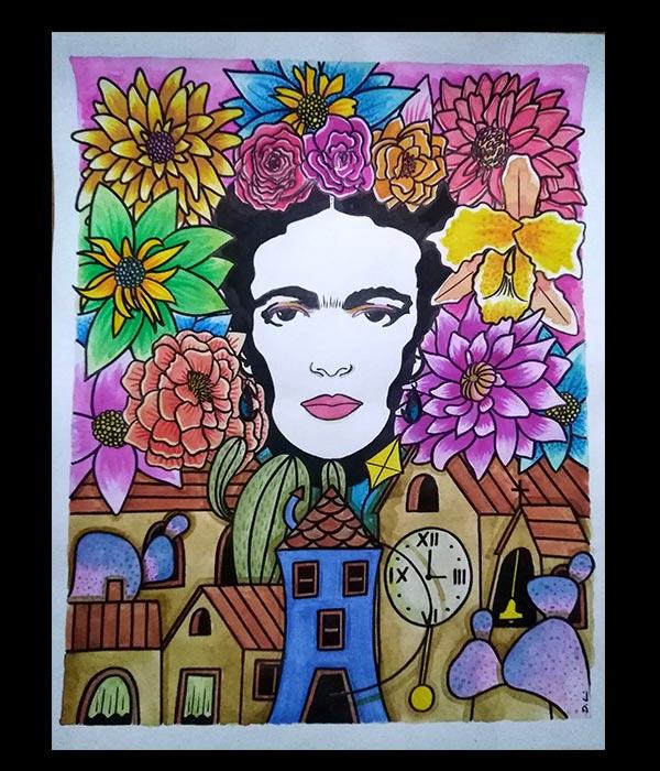 Obra, El pueblo de las flores, de Davide Mantovani